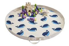 3 Sprouts - Play Mat Organizador Blue Whale