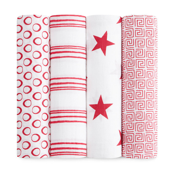 Aden+Anais - Swaddles x4 RED