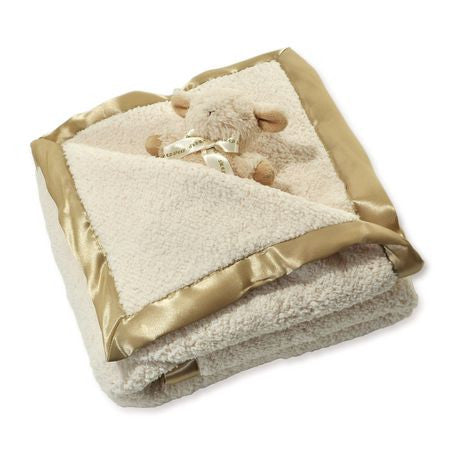 Cloud B - Baby Sherpa Blanket & Sheep rattle set