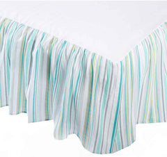 Swaddle Designs - Falda para Cuna Jewel Tone Stripes