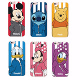 Minnie Mickey Cartoon Donald Duck Stitch Piglet  Daisy  Characters Sportswear Phone case For iPhone 4 5 6 7 S Plus SE 5C Samsung