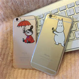 Moomin Little My Case For iPhone 7 7 Plus 6 6s Plus 5 5s Phone Cases TPU Soft Transparent Back Cover Cute Cartoon Funda    B844