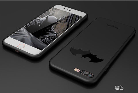 New Luxury Batman Case For iPhone 6 6s 6s Plus Cover Coque TPU Soft Phone Case For iPhone 7 7 Plus Ultra Thin Case Fundas
