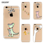 New Creative Phone Case For iPhone 5 5s SE 6 6s 7 7 Plus Ultrathin Transparent Soft TPU Silicone Cover Back Cases For iPhone 7