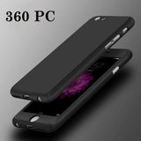 Luxury 360 Degree Full Cover Case For iPhone 6 6s 7 Plus 5S With Tempered Glass For i6 i6s i7 Plus Mobile Phone Case Capa Coque