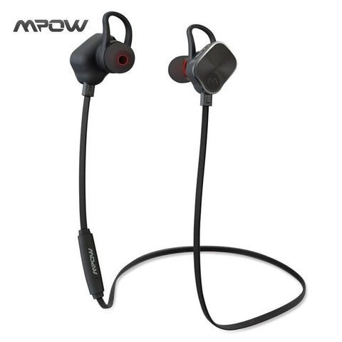 Mpow MBH26 Magnetic headphone Earphone Wireless Bluetooth 4.1 Build-in Mic Hands free call Sports Headphone for all smartphone