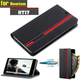 New For Homtom HT17 Case Ultra thin Leather Flip Back Case Cover For Homtom HT17 Pro Take Card With Phone Holder Stand Function