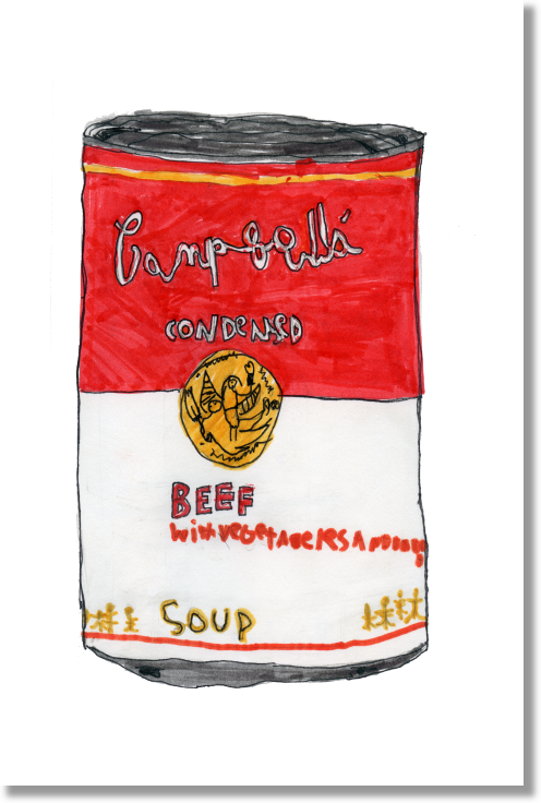 Can of Beef Soup print