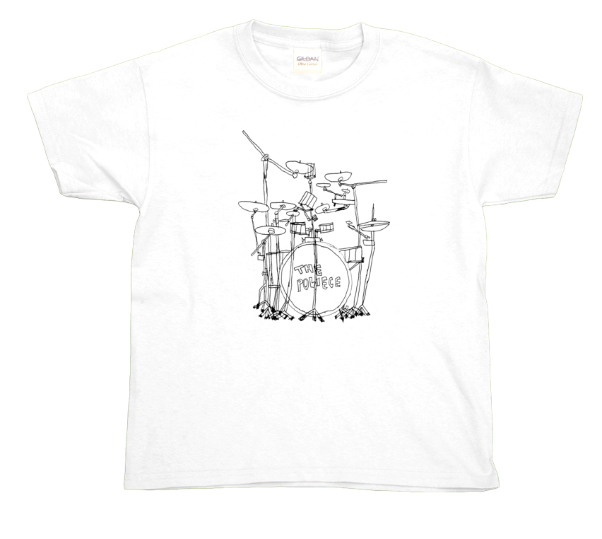 Police Drums youth t-shirt