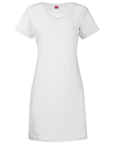 Embroidered V-Neck Fine Jersey Coverup