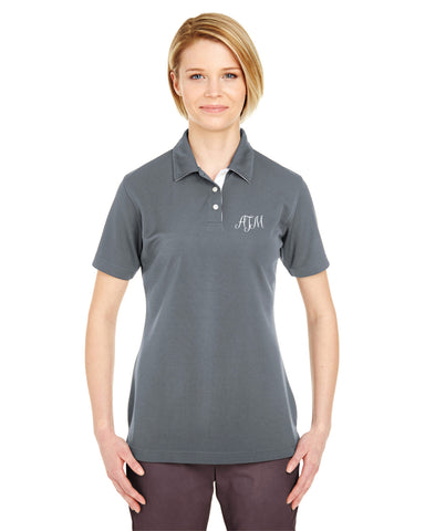 Embroidered Performance Birdsye Polo