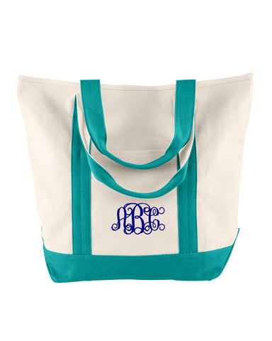 Monogrammed Comfort Colors Canvas Heavy Tote