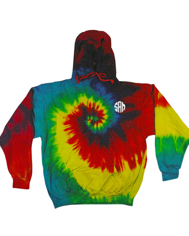 Embroidered Tie-Dye Youth Hoodie