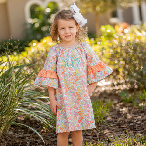 Monogrammed Paisley Resort Dress