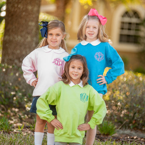 Monogrammed Sweatshirt - Youth - Available in 12 Colors