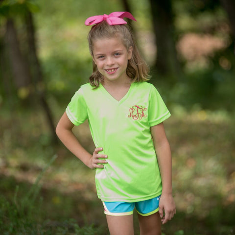 Girls Monogrammed Wicking T-Shirt - Several Colors Available