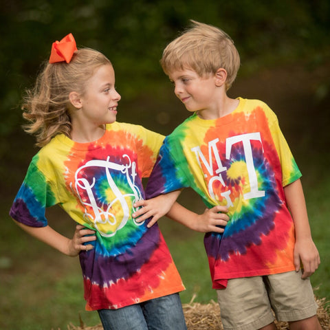 Personalized Swirl Tie-Dye T-Shirt - Youth