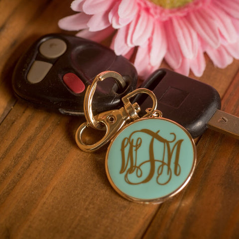 Preppy Personalized Keychain - Available in Several Colors