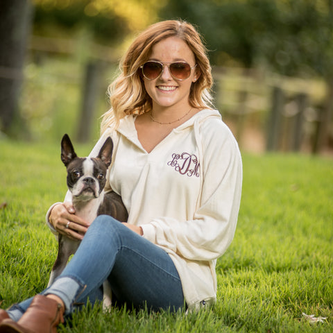 Monogrammed Terry Hoodie - Available in Nine Colors!