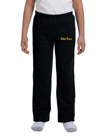 Embroidered Youth Open-bottom Sweatpants