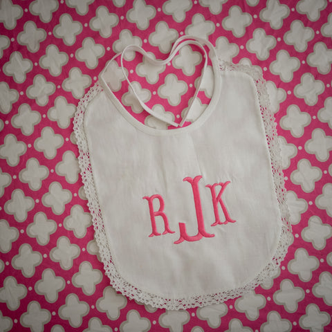Bib with Lace Edge