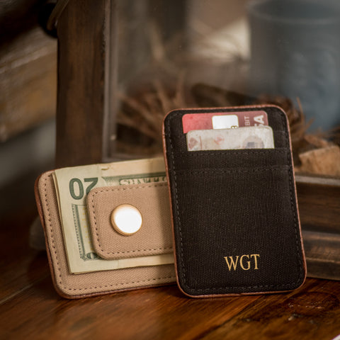 Personalized Card Holder and Money Clip