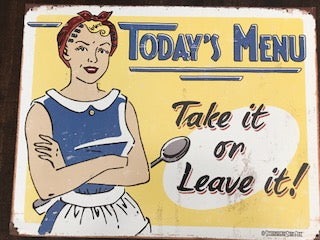 Tin Signs: Today's Menu