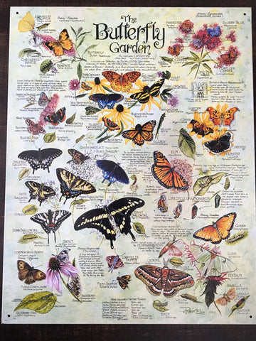 Tin Signs: The Butterfly Garden