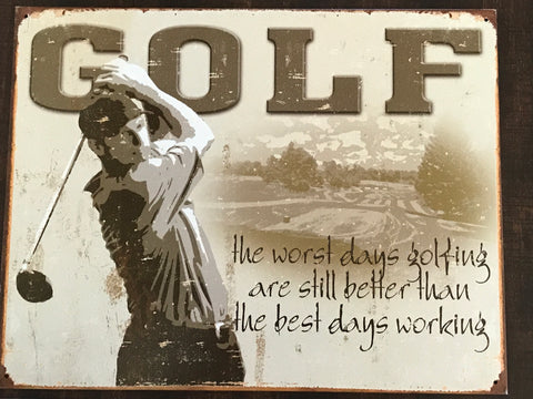 Tin Signs: golf