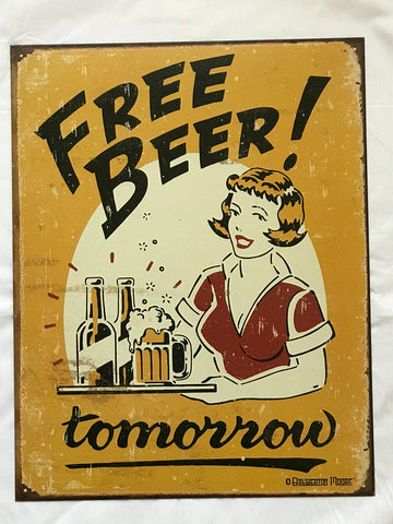 Tin Signs: Free Beer