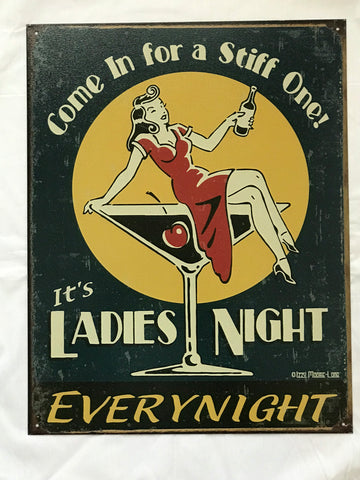 Tin Signs: It's Ladies Night