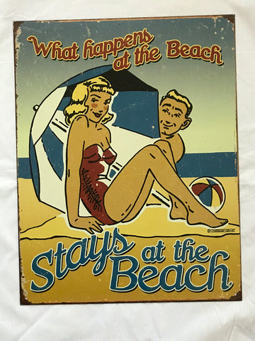 Tin Signs: What happens at the Beach