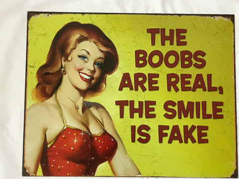 Tin Signs: Fake Smile