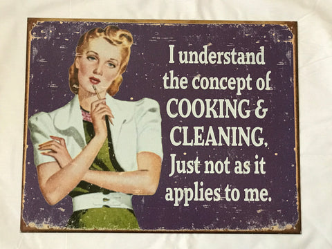 Tin Signs: Cooking & Cleaning