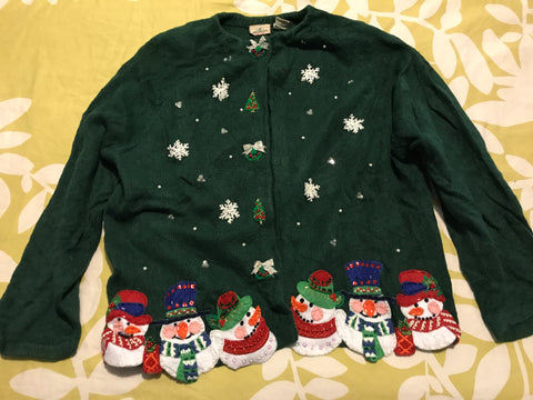 Ugly Christmas Sweater: Forest Snowman
