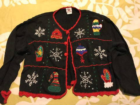Ugly Christmas Sweater: Black Mitten