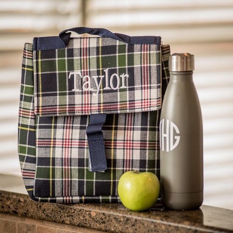 Preppy Madras Lunch Sack in Two Colors