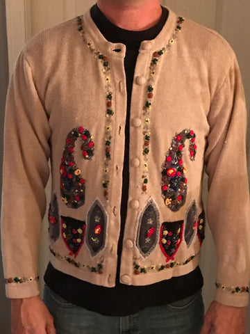 Ugly Christmas Sweater: Beige Betty