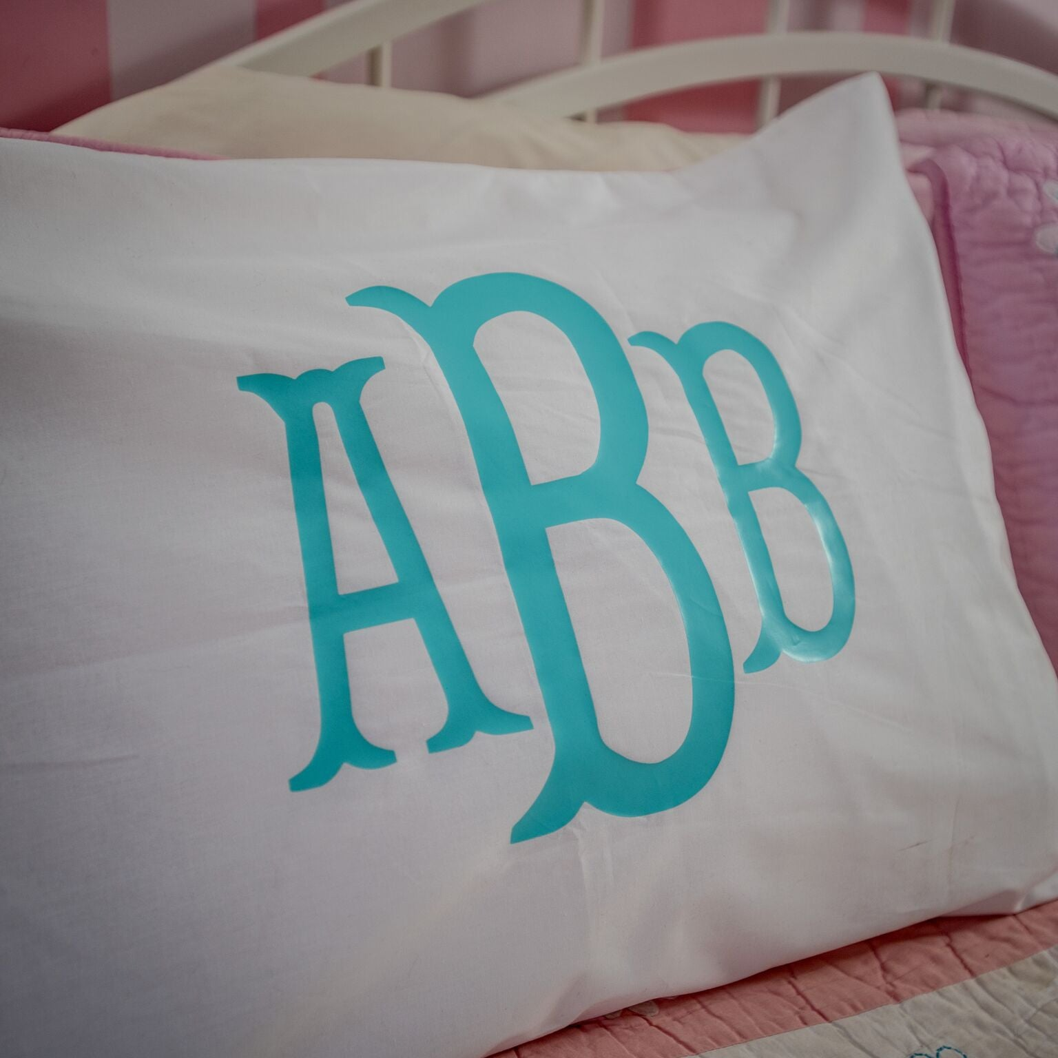 cover pillow monogram monogrammed standard pillowcases size custom set initial pillowcase large throw embroidered of pillows