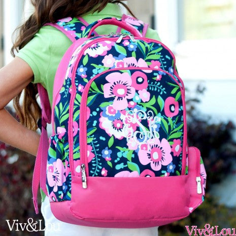 Girl's Monogrammed Backpack - Choose from Five Patterns!