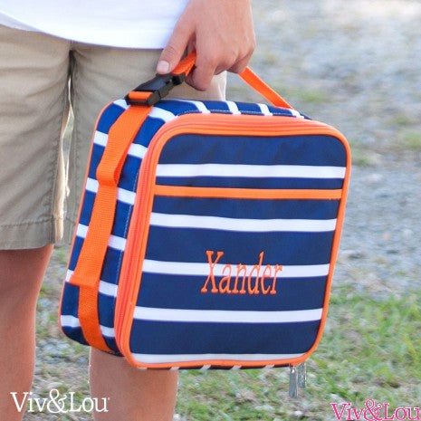 Boy's Monogrammed Lunch Tote in Three Patterns!