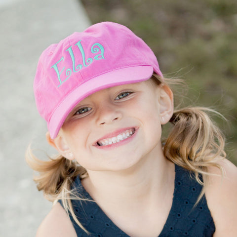 Monogrammed Youth Ball Cap in Four Colors