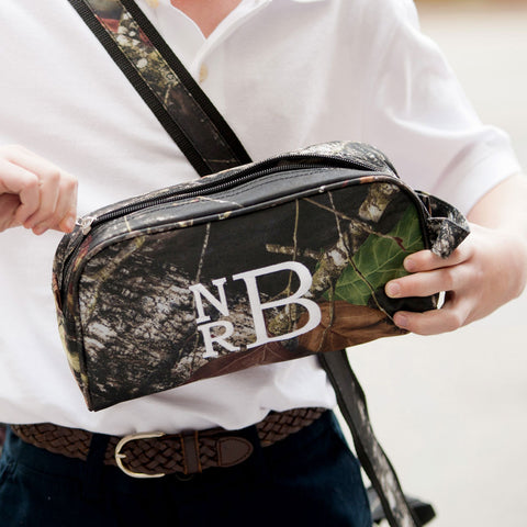 Monogrammed Toiletry Bag - Choose Stripes, Blue Fish or Camo!