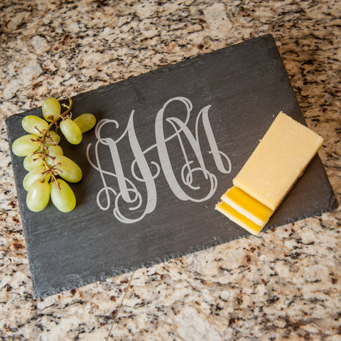 Personalized Slate Cheese Server