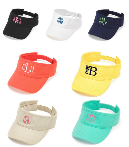 Monogrammed Cotton Visor - Available in Several Colors!