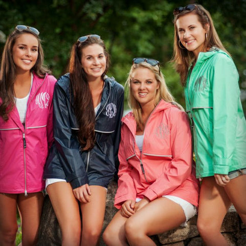 Monogrammed Women's Rain Jacket - Many Colors Available