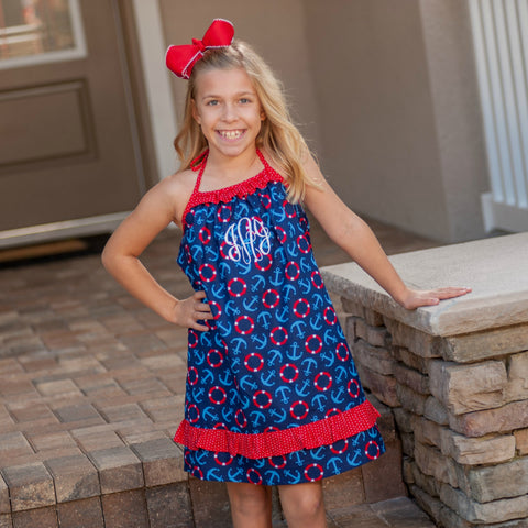 Monogrammed Nautical Sundress
