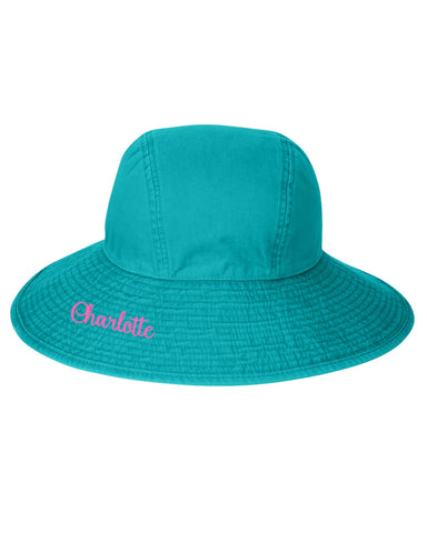 Monogrammed Floppy Hat - Available in 6 Colors