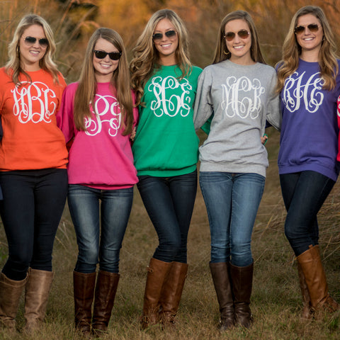 Personalized Sweatshirt - Available in 11 Colors!