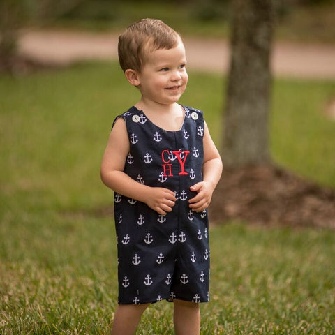 Monogrammed Anchor Shortall